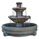 Henri Studio Montreux 32 inch High Cast Stone 3-Tier Floor Fountain