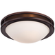Justin 13 1/4 inch Wide Bronze Ceiling Light
