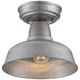 Urban Barn 10 1/4 inch Wide Galvanized Steel Outdoor Ceiling Light