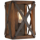 Oaklyn 12 1/2 inch High Rust Industrial Wall Sconce
