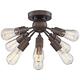 Hemingson 20 3/4 inch Wide Bronze 8-Light LED Ceiling Light