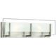 Hinkley Latitude 18 inch Wide Brushed Nickel Vanity Light