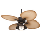 52 inch Casa Vieja Aerostat Wide Palm Bronze Outdoor Ceiling Fan