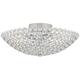 Possini Euro Design Geneva 12 inch Wide Crystal Ceiling Light