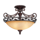 Scavo Leaf and Vine Bronze 21 inch Wide Ceiling Light Fixture