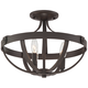 Anaya 15 inch Wide Bronze 3-Light Ceiling Light
