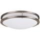 Effie 16 inch Wide Nickel Round LED Ceiling Light