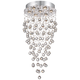 Aida 17 3/4 inch Wide Pouring Crystal Ceiling Light