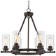 Holman 26 3/4 inch Wide Industrial Bronze 6-Light Chandelier