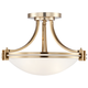 Possini Euro Deco 16 inch Wide Warm Brass Ceiling Light