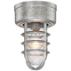 Marlowe 10 3/4 inch High Galvanized Cage Outdoor Ceiling Light