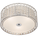 Possini Euro Crystal Strands 15 3/4 inch Wide Drum Ceiling Light