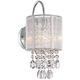 Possini Euro Silver Line 12 inch High Chrome and Crystal Sconce