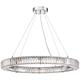 Possini Euro Mulina 35 1/2 inch Wide Crystal Glass Pendant Light