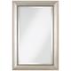 Jocelyn Silver Beading 24 inchx 36 inch Rectangular Wall Mirror