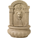 Sand Finish Lion Face 31 inch High Wall Fountain