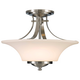 Barrington 15 inch Wide Semi-Flushmount Ceiling Fixture by Feiss
