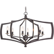 Middletown 26 inch Wide Downton Bronze 6-Light Oval Chandelier