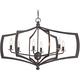 Middletown 34 inch Wide Downton Bronze 6-Light Oval Chandelier