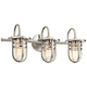Kichler Caparros 24 inch Wide 3-Light Brushed Nickel Bath Light