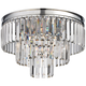 Palacial 19 inch Wide Polished Chrome 3-Light Ceiling Light