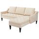 Jennifer Taylor Amelie Parchment Reversible Chaise Sectional