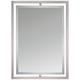 Quoizel Marcos Nickel 24 inch x 32 inch Floating Wall Mirror