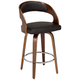 Shelly 26 inch Brown Bent Wood Counter Stool