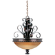 Aspen Collection 24 inch Wide Pendant Bowl Chandelier