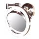 Satin Nickel Finish CFL 12 3/4 inch High Plug-In Wall Mount Mirror