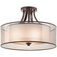 Kichler Lacey 20 inch Wide Bronze Ceiling Light Fixture
