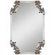Andretta Antiqued Silver 19 1/4 inch x 29 1/4 inch Wall Mirror