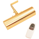 Slimline 8 inch Wide Polished Brass Cordless LED Picture Light