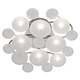 Possini Euro Lilypad Etched Glass 17 3/4 inch Wide Ceiling Light