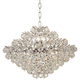 Essa 24 inch Wide Chrome and Crystal Pendant Light