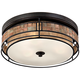 Laguna 16 inch Wide Renaissance Copper Ceiling Light w/ Mica Shade