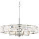 Possini Euro Chrome 29 inch Wide Crystal Pendant Light