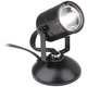 Lil Wonder 4 inch High Black Finish Mini Halogen Upllight