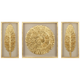 Golden Feathers 31 1/2 inch High Wall Art Set of 3