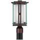 Double Glass 15 3/4 inch High Bronze Outdoor Post Light