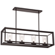 Cove Point 34 1/2 inch Wide Open Frame Rectangular Chandelier