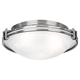 Possini Euro Design Nickel 16 3/4 inch Wide Ceiling Fixture
