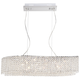 Adali Cruve 32 inch Wide Clear Crystal Linear Chandelier
