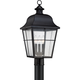 Quoizel Millhouse 21 1/2 inch High Black Outdoor Post Light