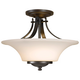 Feiss Barrington 15 inch Bronze Semi-Flushmount Ceiling Fixture