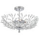 Brielle 18 1/2 inch Wide Chrome 4-Light Ceiling Light