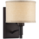 La Pointe 9 inch High Oatmeal Linen Shade Wall Sconce