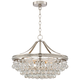 Wohlfurst 20 1/4 inch Wide Brushed Nickel Crystal Pendant Light