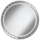 Possini Euro Kesha 36 inch Antique Silver Round Wall Mirror