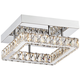 Patricia Crystal Square 12 inch Wide Chrome LED Ceiling Light